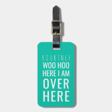FUNNY PERSONALIZED BAG ATTENTION | HUMOUR GREEN BAG TAG