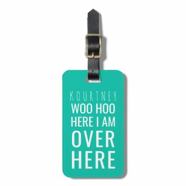 special_stationery FUNNY PERSONALIZED BAG ATTENTION | HUMOUR GREEN BAG TAG