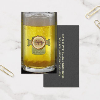 Funny Personalized Beer Glass Business Card