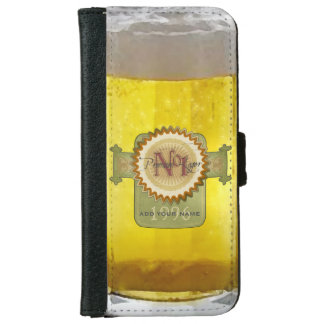 Funny Personalized Beer Glass iPhone 5 Wallet