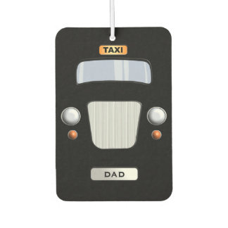 Funny Personalized Black Taxi Car Air Freshener