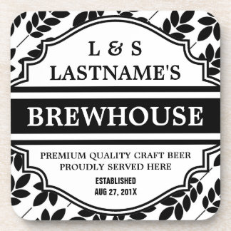 Funny Personalized Brewhouse for Home Brewer Coaster