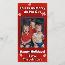 Funny Personalized Christmas Holiday Card