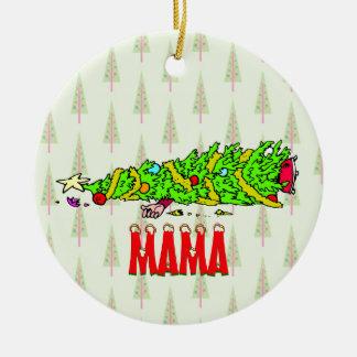 Funny Personalized Christmas Tree Cartoon Ceramic Ornament