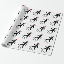 Funny personalized Christmas wrapping paper
