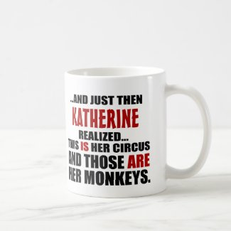 Funny Personalized Circus Monkeys Coffee Mug