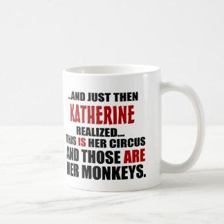 Funny Personalized Circus Monkeys Coffee Mug