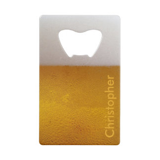 Funny Personalized Cold Beer Credit Card Bottle Opener