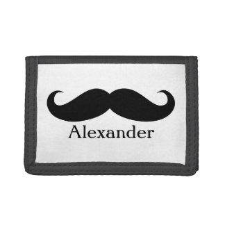 Funny Personalized Gentleman's Mustache Tri-fold Wallet