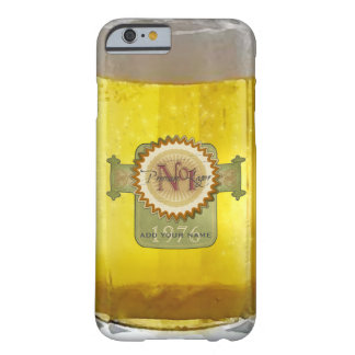 Funny Personalized Glass Of Beer Barely There iPhone 6 Case