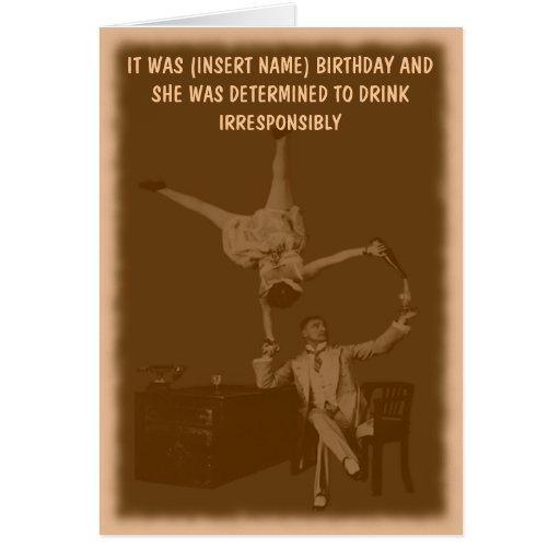 Funny personalized greeting card