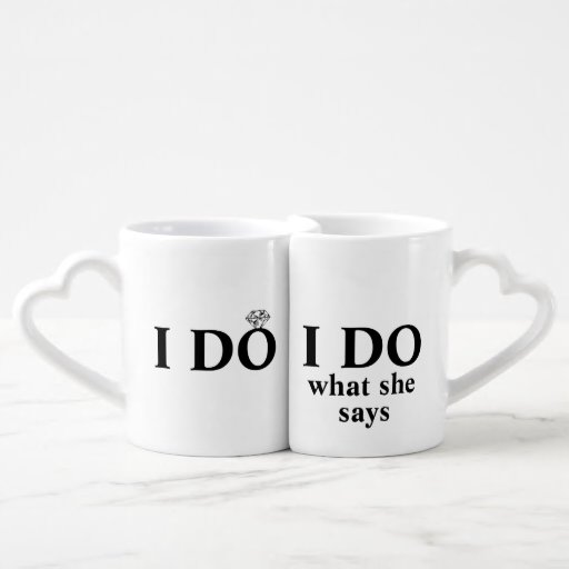 Funny Personalized I Do Wedding Or Anniversary Coffee