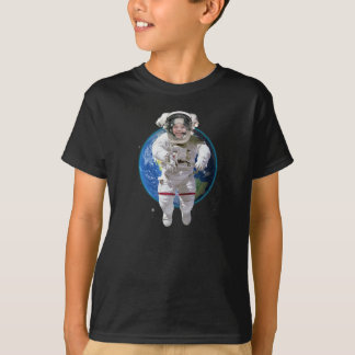 Funny Personalized Kids Photo Astronaut T-Shirt