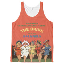Funny personalized ladies night the bride All-Over-Print tank top