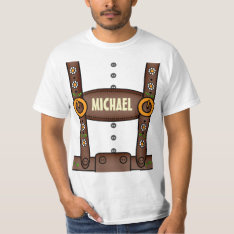 Funny Personalized Lederhosen Oktoberfest Shirt at Zazzle