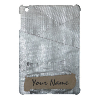 Funny Personalized Name Tag on Duct Tape  iPad Mini Covers