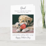 Funny Personalized Pet Photo Dog Dad Fathers Day Holiday Card