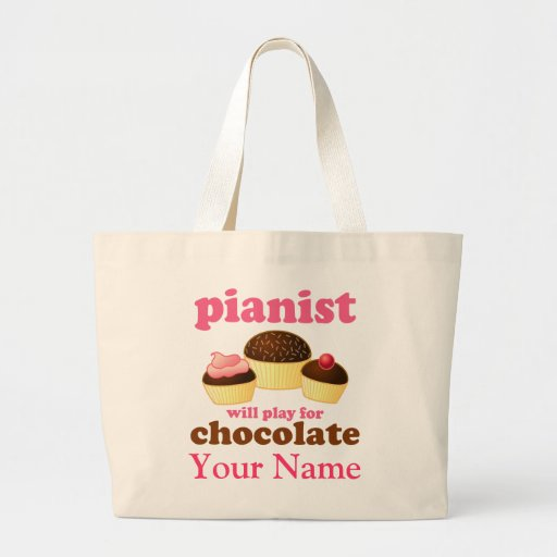 Funny Personalized Piano Music Tote Bag Gift