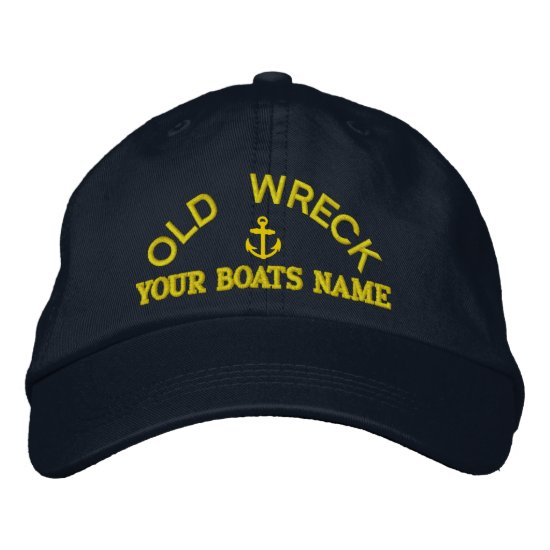 Funny personalized sailing captains yacht crew embroidered baseball hat