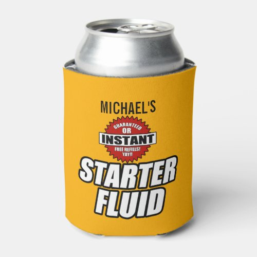 Funny Personalized Starter Fluid Can Cooler