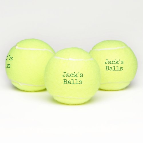 Funny Personalized Tennis Balls
