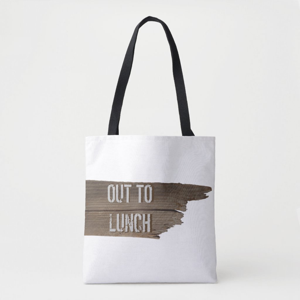 Funny Personalized Vacation Out to Lunch Tote Bag