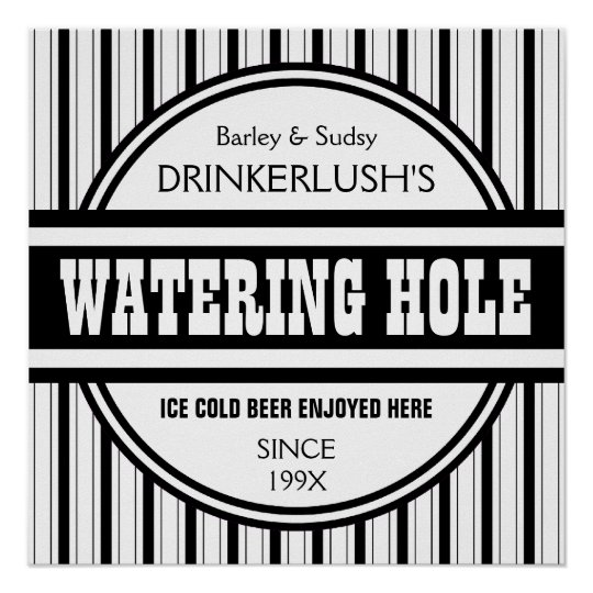Home Bar Signs: Funny Personalized Watering Hole Home Bar Sign