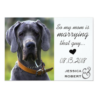 Funny Pet Dog Save The Date Card
