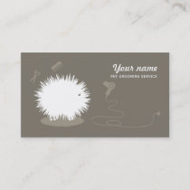 Funny pet grooming Business Card