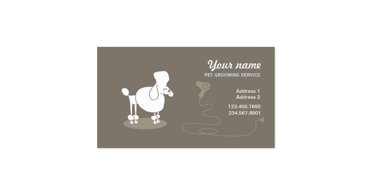 Funny pet grooming business card zazzle for Grooming business cards