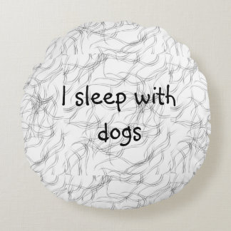 Funny Pet hair Round Pillow