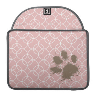 Funny Pet; Mauve Circles Sleeves For MacBooks