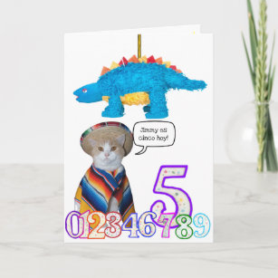 Funny Pet Spanish Birthday Card