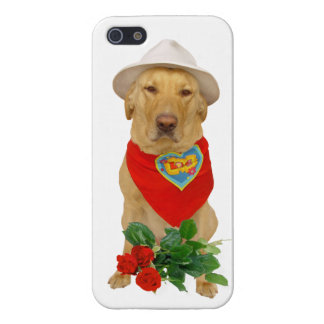 Funny Pet Valentine LOVE Lab iPhone 5 Cover