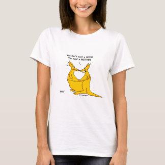 Funny Peter Pan Syndrome Cartoon Kangaroos T-Shirt