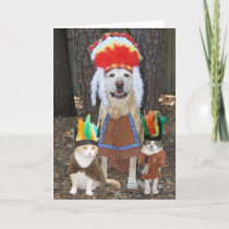 Funny Pets Big Chief Father's Day Card