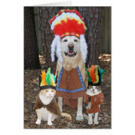 Funny Pets Big Chief Father's Day Greeting Cards