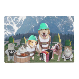 Funny Pets Learn German Placemat