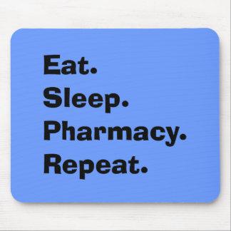 "Funny Pharmacist Gifts ""Eat, Sleep, Pharmacy..."" Mouse Pad"