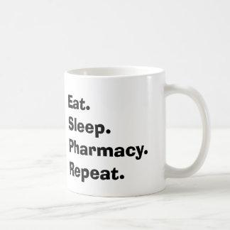 "Funny Pharmacist Gifts ""Eat, Sleep, Pharmacy..."" Classic White Coffee Mug"