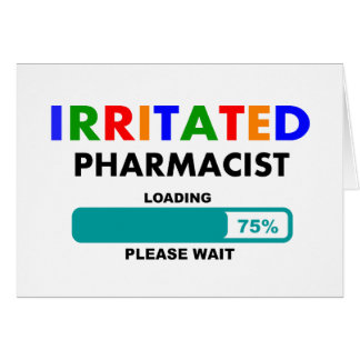 Funny Pharmacist Loading T-Shirts Card