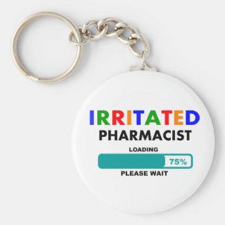 Funny Pharmacist Loading T-Shirts Keychain