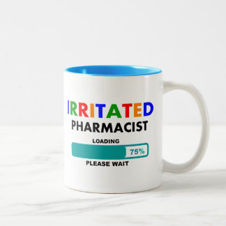 Funny Pharmacist Loading T-Shirts Two-Tone Coffee Mug
