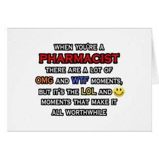 Funny Pharmacist OMG WTF LOL Greeting Cards