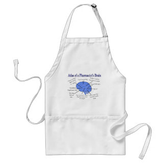 Funny Pharmacist's Brain Gifts Adult Apron