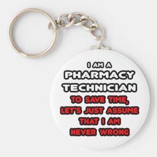 Funny Pharmacy Technician T-Shirts Keychain