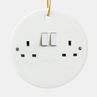 Funny Photo of UK Electrical Outlet Ceramic Ornament