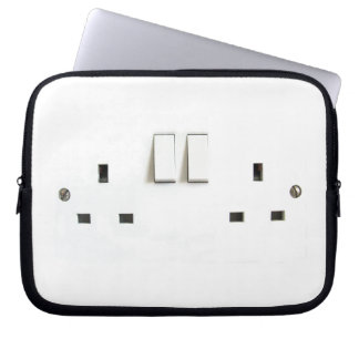 Funny Photo of UK Electrical Outlet Computer Sleeve