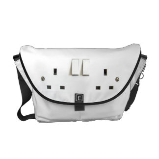 Funny Photo of UK Electrical Outlet Courier Bag