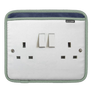 Funny Photo of UK Electrical Outlet iPad Sleeve